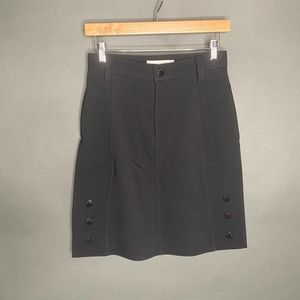 See By Chloe Black Mini Skirt Button Sides 36